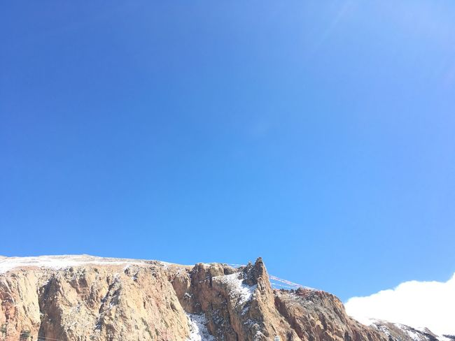 Rocks Mountain Tibet Blue Clear Sky Nature Beauty In Nature