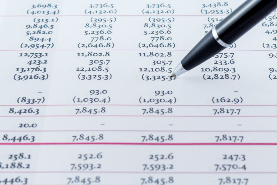 Financial Chart report with black writing pen Work Account Accounting Business Finance And Industry Chart Close-up Day Finance Financial Financial Figures Full Frame Graph Growth No People Number Paper