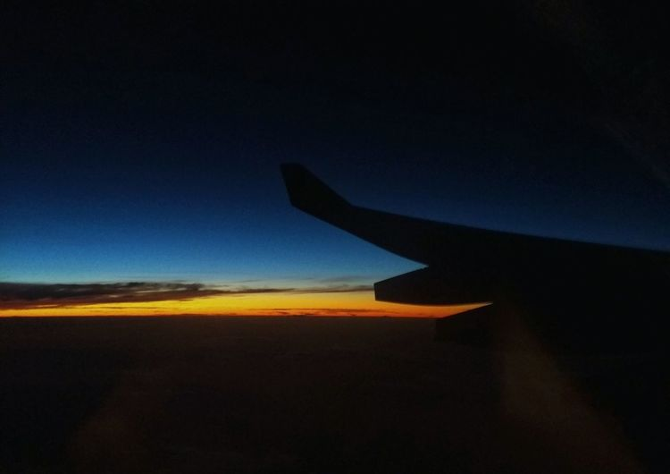 Lifted Fly Airplane Transportation Flying Sunset Travel Blue Sky Clear Sky Beauty In Nature Clouds And Sky Light EyeEm Gallery