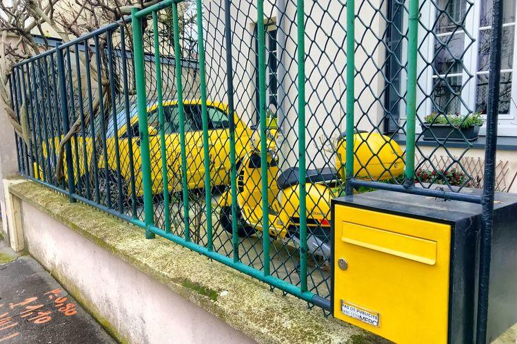 Jaune Yellow Metal Day Text No People Communication Graffiti