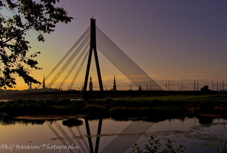 Architecture Clear Sky Nature No People Reflection Silhouette Sunset Tranquility Water