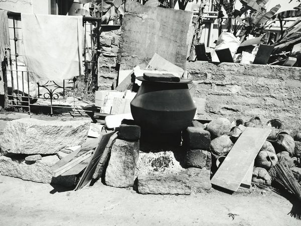 Street Food Making.. Quite a setup.! Taking Photos Take A Shot Black And White Dry And Windy First Eyeem Photo