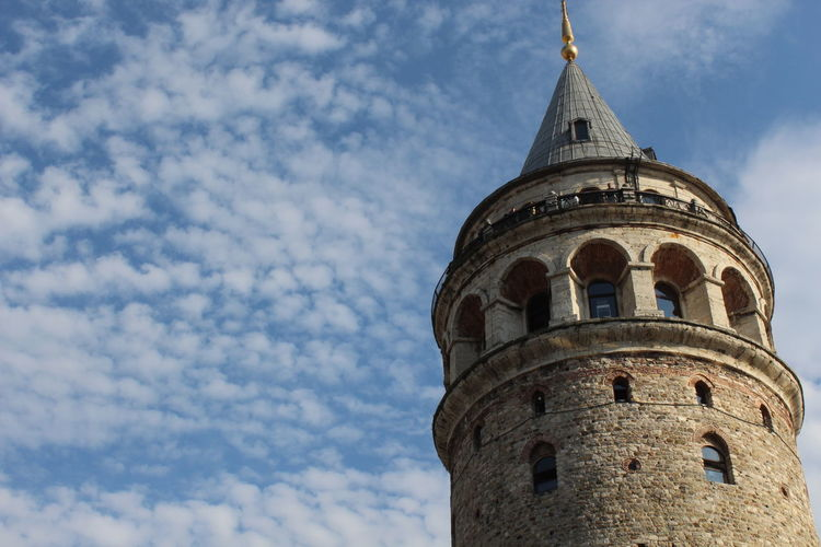 Architecture History Low Angle View Building Exterior Religion Sky Cloud - Sky No People Travel Destinations Dome Built Structure Day Outdoors Canon 1300d EyeEm EyeEm Gallery Eyeemphotography EyeEm Nature Photography EyeEm EyeEm Gallery Galata Tower Historyphotography Low Angle View