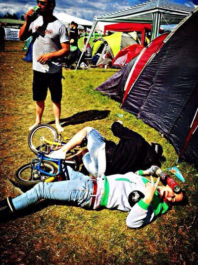 Southside Festival Bier Kinderfahrrad Unfall Drunken Fun