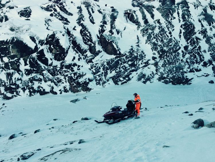 Nature Snow Greenland Snowmobiling