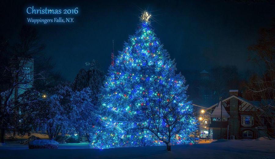 Christmas Tree Christmas Lights Wappingers Falls Village Village Life Christmas Time