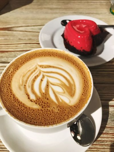 Coffee Cup Coffee - Drink Drink Refreshment Food And Drink Frothy Drink Table Cappuccino No People Latte Food Day