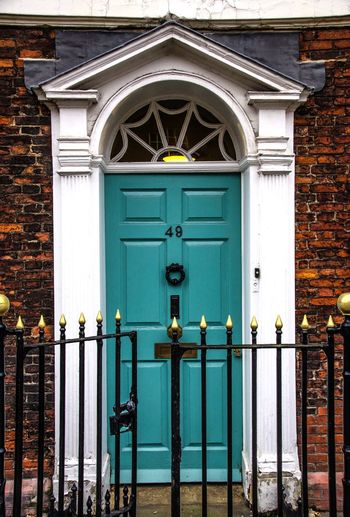 York - January 2017 49 Blue Architecture Building Exterior Door Built Structure Closed Entrance Day