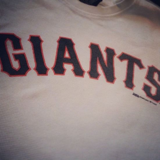 My honey found this at the thrift store for me. I love it!! Giants SF Warm Gigantes thriftstore thriftfinds