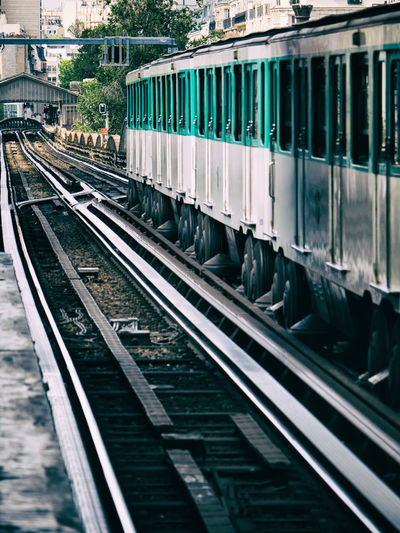Public Transportation Rail Transportation Track Railroad Track Transportation Train - Vehicle Train Mode Of Transportation Passenger Train Land Vehicle Station Subway Train Railroad Car Paris Metro