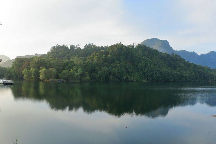 morning scene at Tasik Biru of Bau, Sarawak Beauty In Nature Blue Day Greenery Lake Lake View Mountain Nature No People Outdoors Reflection Scenics Sky Tranquil Scene Tranquility Tree Water