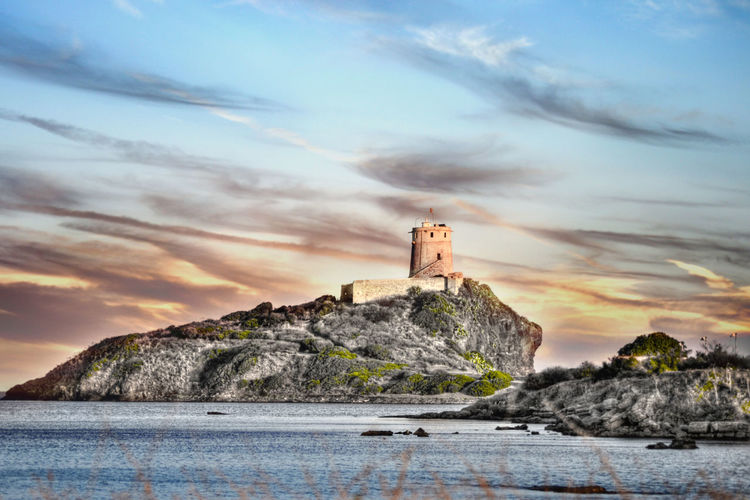 Mar Pula San Macario Sardegna Sky And Clouds Torre San Macario Torres Torres Costeras Torres De Vigía Torri Torri Costiere Tower Towers Towers And Sky Tramonto
