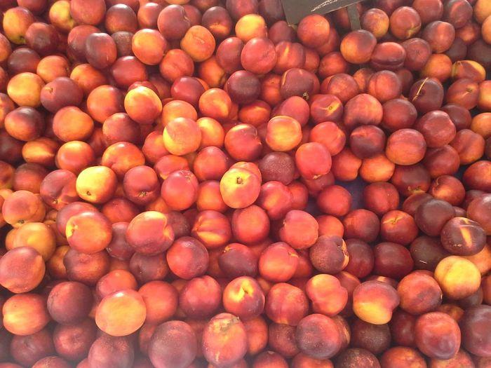 Full frame shot of fresh red apples
