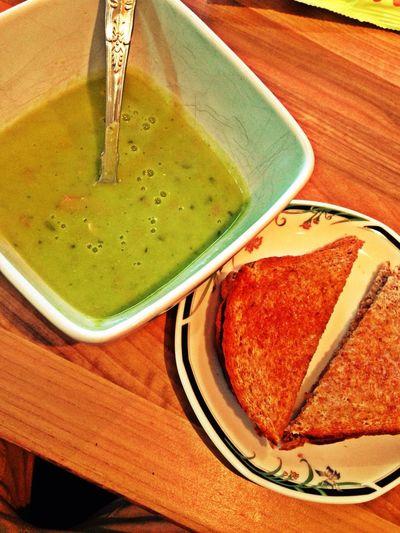 Eating Pea Soup