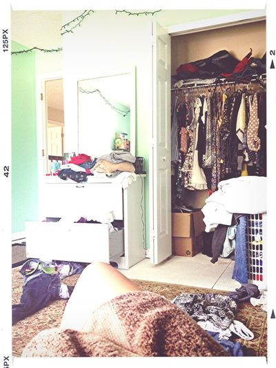 Since I have no door, here's my room, my home life is now not private (: