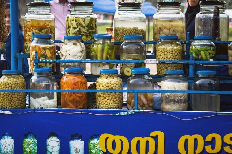 Market No People Food Outdoors Multi Colored Visual Feast Kerala Uppilittath Keralafood Indianfood Food And Drink Foodphotography Mango Pickle