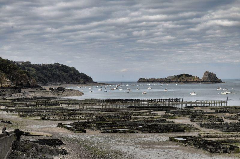 Breizh Bretagne Cancale Cloudy Coastline Nature Ostriche Sea And Sky Sea And Sky Landscape Nature_collection Shore Vacations