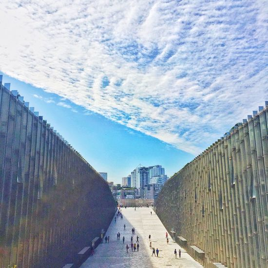 Building Korea Ewha Womans University Built Structure Seoul Sky And Clouds