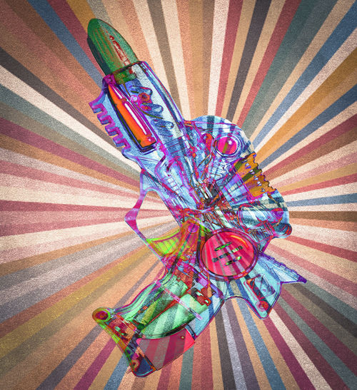 old retro toy ray gun abstract Abstract Photography Gun Multiple Layers SiFi Art And Craft Creativity Design Felt High Angle View Multi Colored Pattern Pink Color Ray Gun Retro Styled Shape Toy Gun Toy Guns