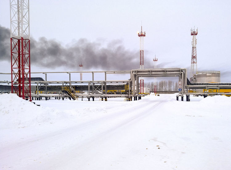 Oil Oil Pump Gas Gasprom Rosneft Refinery Industry Winter Snow Cold Temperature Transportation Sky Train Rail Transportation Nature Covering Train - Vehicle White Color Mode Of Transportation Day Connection Track No People Frozen Technology Public Transportation Outdoors