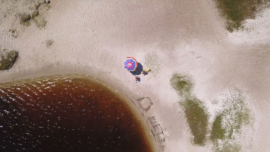 Coca Cola Lagoon Top View Drone Shot Top View Aerial View Aerial View Beach Tent Dark Water Perspectives On Nature Adults Only Day High Angle View Nature Outdoors Sand Water