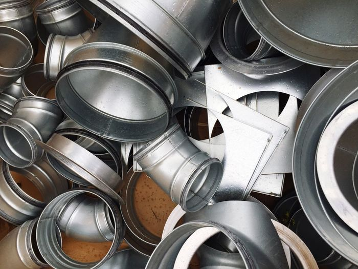 Metal Metallic Pipe Tubes Backgrounds Large Group Of Objects Stack Heap Collection No People