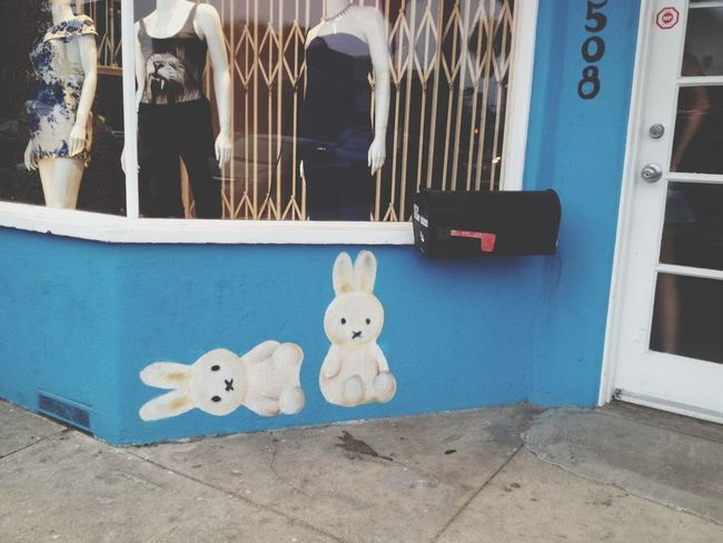Bunnies On Abbot Kinney Looking for Nature in all the odd places Venice