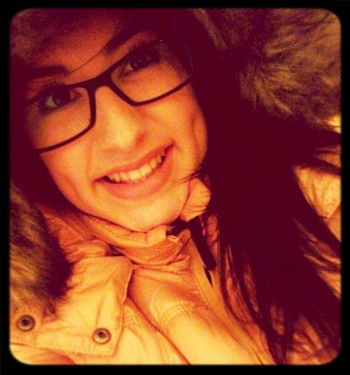 Midnight selfie :) That's Me Smile Glasses Filter