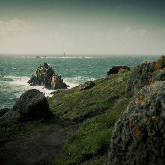 #lands #end #cornwall #coast #england #rocks #cliffs #sea #waves #island #lighthouse #lichen Lichen Rocks Island Waves Coast Cornwall England End Cliffs Lands Sea Lighthouse