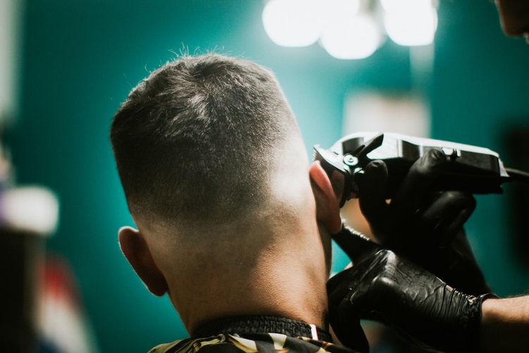 Barber shop hair style