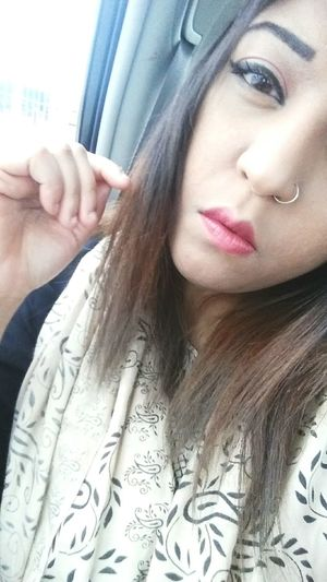 Didnt think this photo turned out that good but here I am, liking it. Heartless Wasn't In The Mood Makeup On Point Lipstick Pink Lipstick  Beautiful Me When I Was Pretty Ugh Roadtrip Frown Nosering