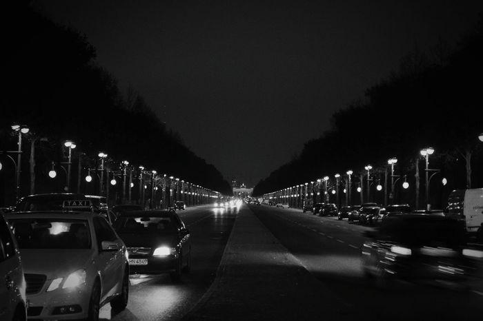 Berlin Brandenburger Gate Cars Blackandwhite Photography Lights Streetphoto_bw