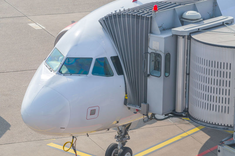 High angle view of airplane