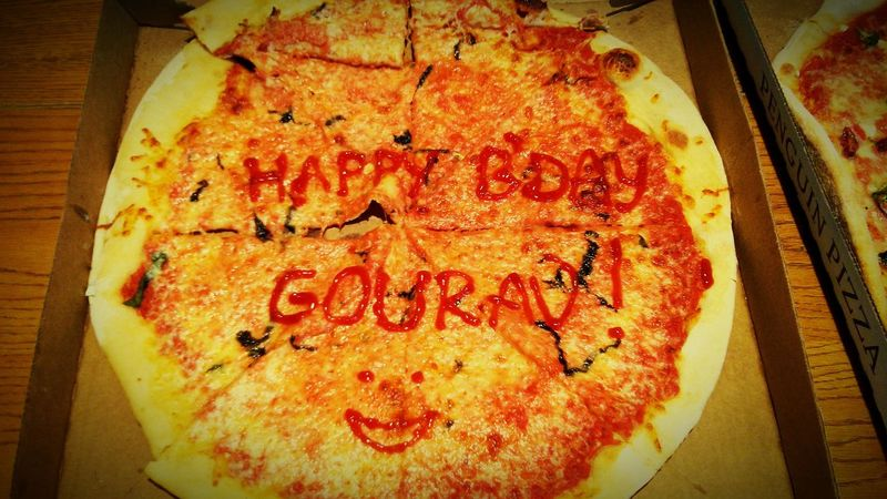 Getting Creative Boston cause cakes have eggs and and pizza dont. Bestcakeever Bestfriends Birthday Birthdaycake Pizza