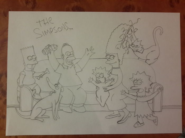The Simpsons Springfield Drawing