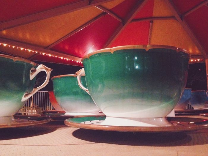 Vintage tea cup ride. SummerNights The Places I've Been Today Vscocam Vivid Colours