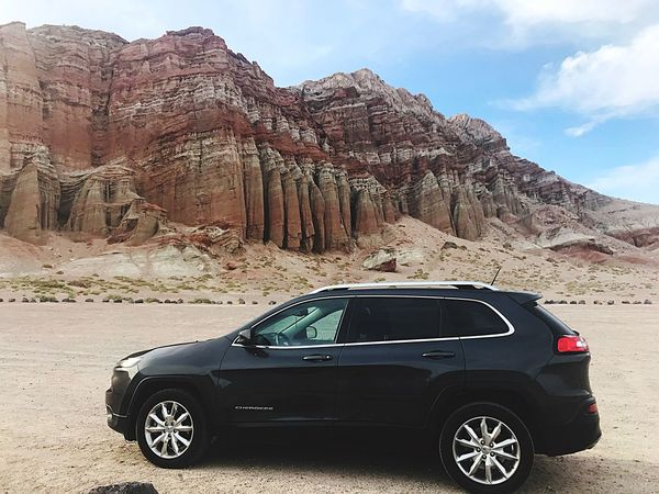 Jeep Cherokee off-road Red Rock Canyon State Park Red Rocks  Jeep Life Jeep Cherokee Mode Of Transportation Motor Vehicle Transportation Car Sky Land Vehicle Mountain Nature Mountain Range Beauty In Nature Desert