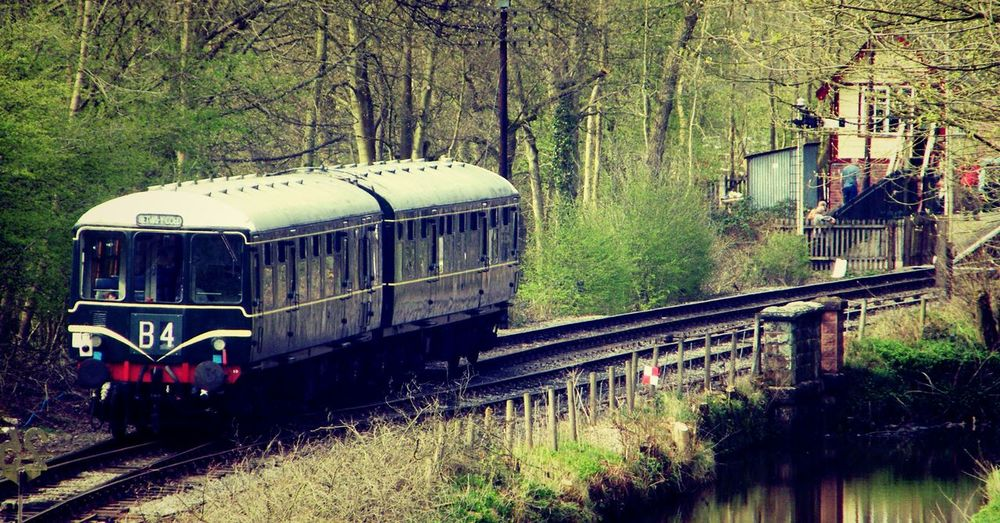 1950's Vehicles B4 Beauty In Nature BR Class 104 Canal Churnet Valley Railway Class 104 Diesel Train Multiple Unit Nostalgia Passenger Train Railway Times Past Tranquil Scene