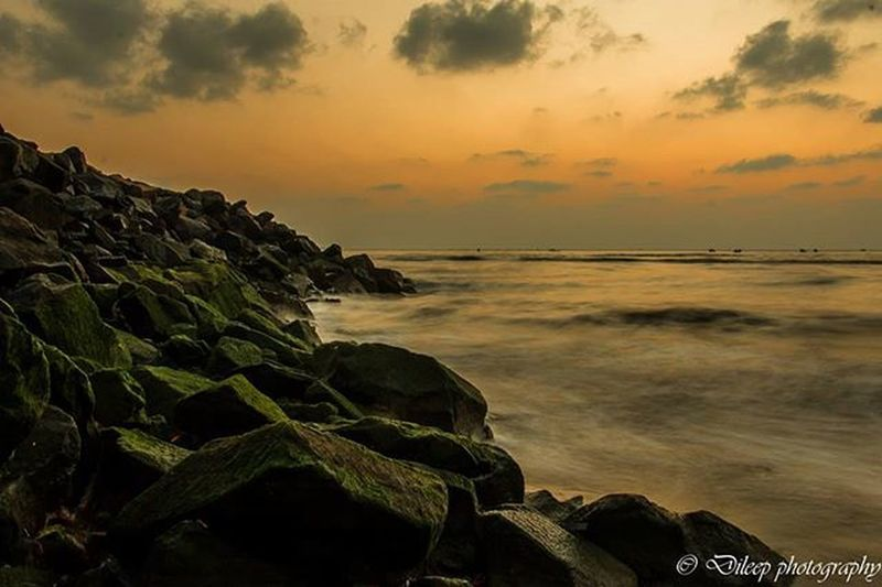 Being in Chennai and capturing the same beauty doesn't bore you but does excite you!! Chennai Marina Sunrise Rocks Algaerocks Canon70d📷 Photosforlife