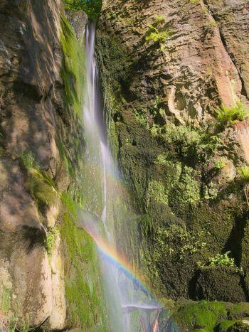 Rainbows in waterfall Water Nature Spring Waterfall Wasser Wasserfall Frühling Natur Landscape Landschaft Longexposure Long Exposure Langzeitbelichtung Langzeitaufnahme Rainbow Regenbogen