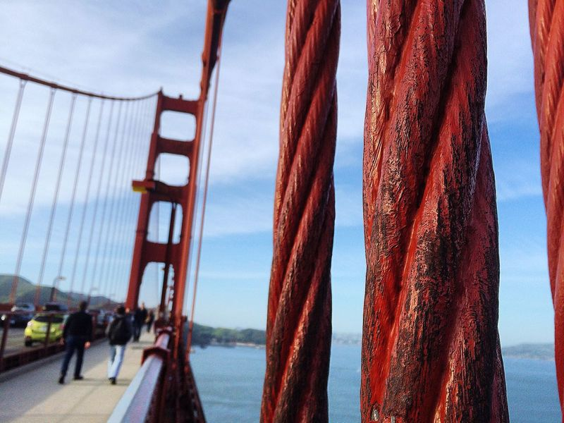 GoldenGateBridge Sanfrancisco Sanfran Roebling Architecture Red WestCoast Cali Summer Close-up