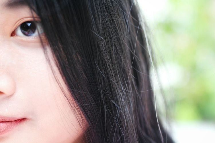 Close-up of woman outdoors