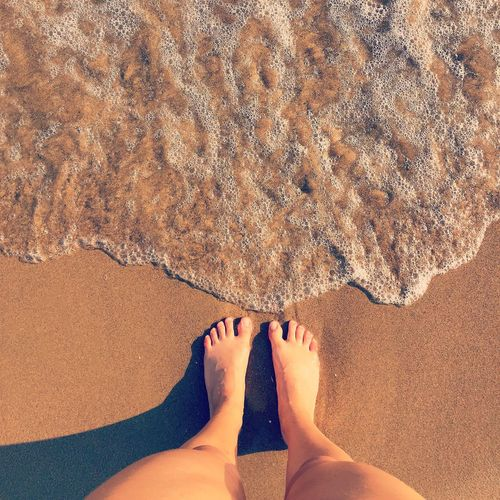 Barefoot Sea Mare Enjoying Life Relaxing