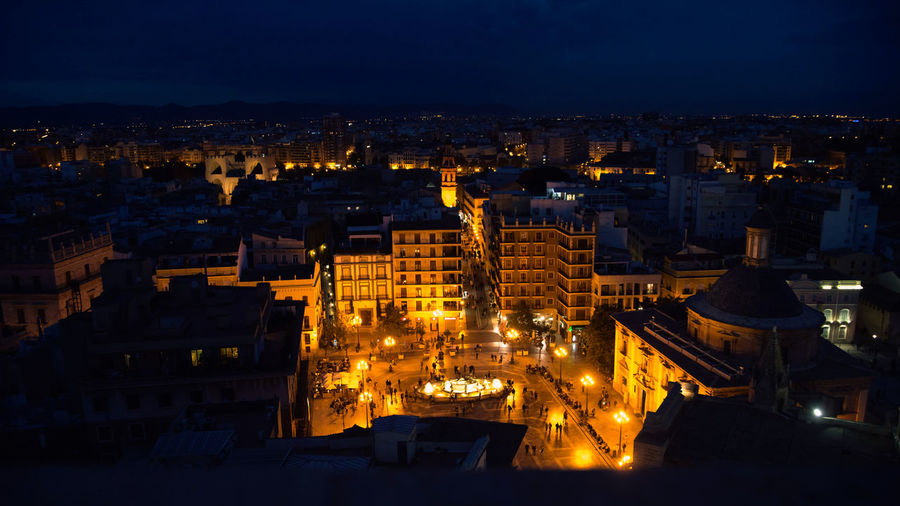 night valencia view from above spain evening City Building Exterior Architecture Cityscape Illuminated Built Structure Night Building No People High Angle View Residential District Nature Travel Destinations Sky Outdoors City Life Travel Skyscraper Valencia, Spain Square View From Above Lighting