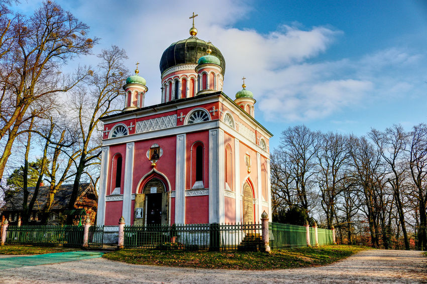 EyeEm Best Shots Orthodox Church Potsdam Architecture Bare Tree Building Exterior Built Structure Cloud - Sky Day Dome Eye4photography  History Low Angle View Nature No People Outdoors Place Of Worship Potsdam_city Religion Sky Spirituality Travel Destinations Tree