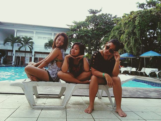 """Bestfriends /partners in crime "" Sunbathing Summer2015 Bestfriends <3 Funny Faces Poolside"