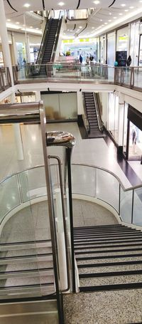 Shopping Mall Well Lit Shopping Mall View Stairways Different View Floors View