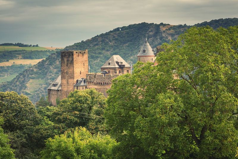 Schloss Schönburg In Oberwesel Mountain Social Issues Tree Building Exterior Sunset Scenics Architecture Outdoors Nature No People Beauty In Nature DayCloud - Sky Sky Germany Idyllic Travel Traveling Castel Castle Castle Ruin Castle Tower Ruined Building Landscape