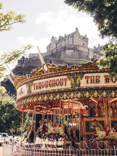Edinburgh Castle from different angles Carousel Castle City Cityscapes Day Horses Low Angle View Merry Go Round Merry-go-round Outdoors Scotland My Year My View