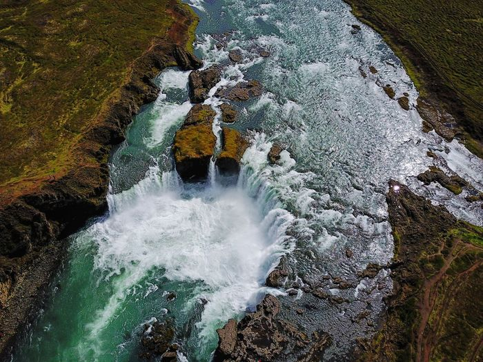 A higher view of Godafoss, Iceland Aerial Dji Drone  DJI Mavic Pro EyeEm Nature Lover Naturelovers Nature Beauty In Nature Nature_collection Eye4photography  Nature Photography EyeEm Best Shots Landscapes Traveling Travel Landscape Iceland Droneshot Dronephotography Landscape_Collection Waterfall Waterfalls Aerial View Godafoss Waterfall_collection High Angle View Motion Unusual Angle